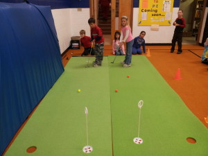 Learning to Putt at Stober Elementary